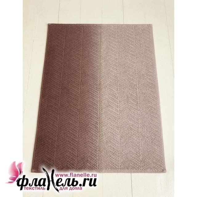Коврик Luxberry Art1 бежевый/коричневый 65х90 см