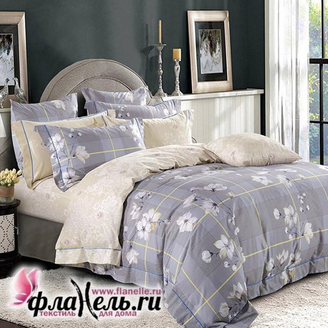 Комплект постельного белья  с простыней на резинке Asabella 1118/180
