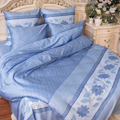 Balimena мако-сатин CL-8241 Blue (наволочки 70*70 см)