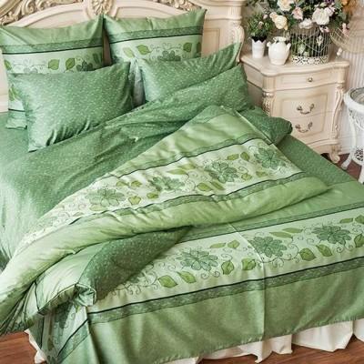 Balimena мако-сатин CL-8241 Green (наволочки 70*70 см)