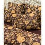 Комплект постельного белья Balimena мако-сатин CL-8717 Brown (наволочки 50х70 см)