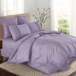 Комплект постельного белья Cleo Cotton Lace 013-LE из однотонного сатина