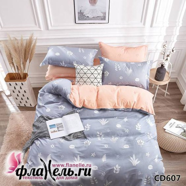 Комплект постельного белья KingSilk Arlet CD-607 печатный сатин