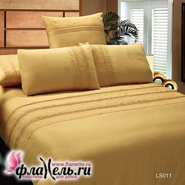 Комплект постельного белья KingSilk LS011Ж люкс-сатин с кружевом