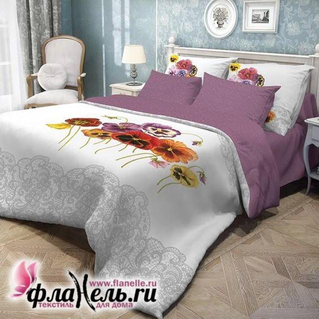 Комплект постельного белья Волшебная ночь ранфорс Fialki